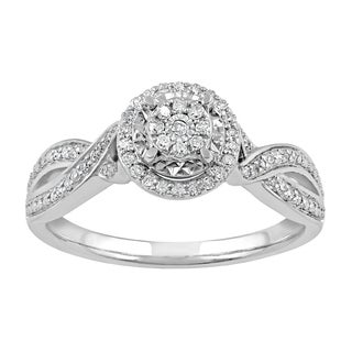 Sterling Silver 1/5ct TDW Diamond Bypass Ring (I-J, I2-I3)