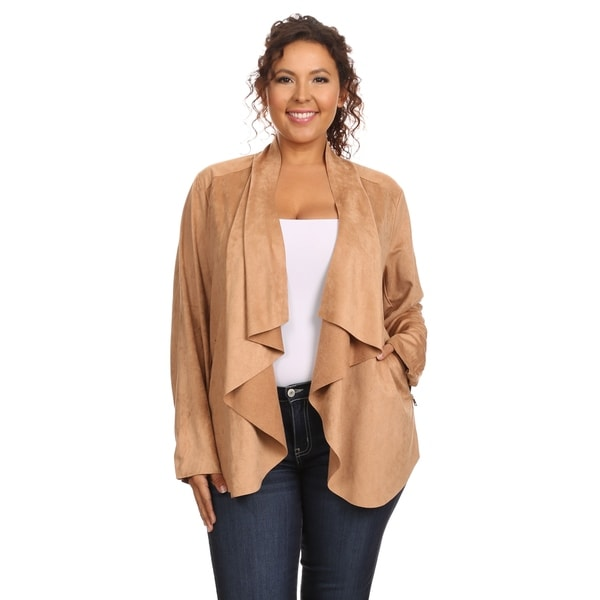 suede miracle style look the go on drapes products jacket draped essential