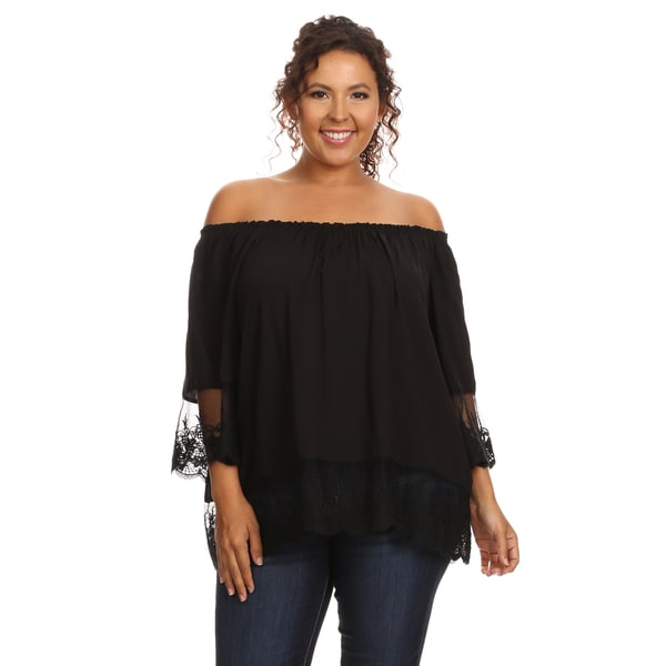 140328088c417 Shop Hadari Women s Plus Size Casual Off Shoulder Blouse - Free ...