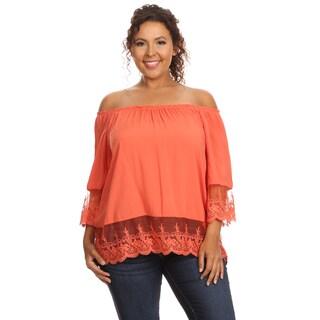 Hadari Women's Plus Size Casual Off Shoulder Blouse