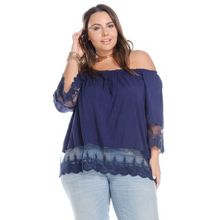 Hadari Women's Plus Size Casual Off Shoulder Blouse (2 options available)