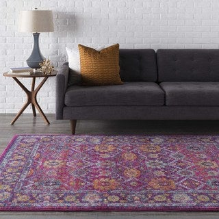 Henley Updated Traditional Pink Rug (5'3 x 7'3)