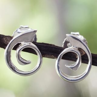 Handcrafted Sterling Silver 'Soulful' Earrings (Mexico)