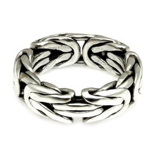 Men's Handmade Sterling Silver 'Soul of Borobudur' Ring (Indonesia)