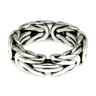 Men's Handmade Sterling Silver 'Soul of Borobudur' Ring (Indonesia)