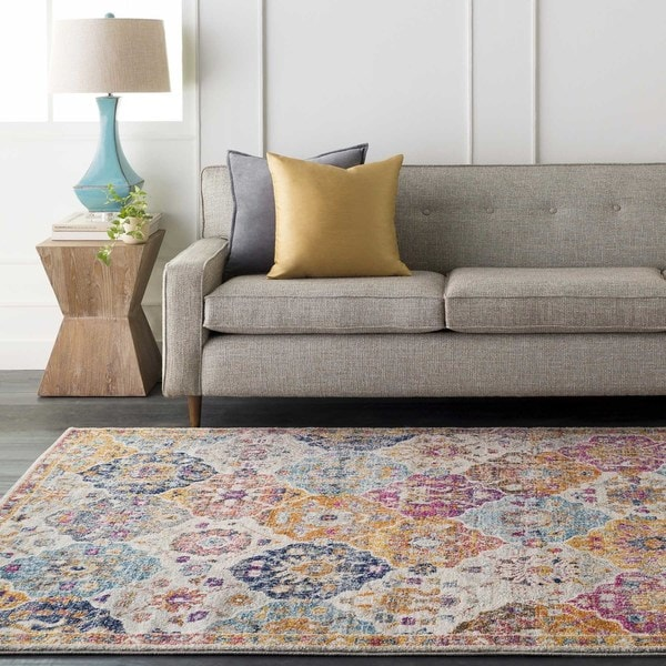 Gracie Bohemian Patchwork Area Rug. Opens flyout.