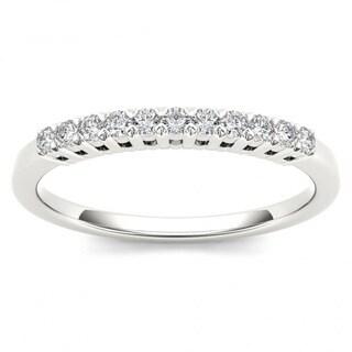 De Couer 10k White Gold 1/5ct TDW Diamond Women's Wedding Band - White H-I
