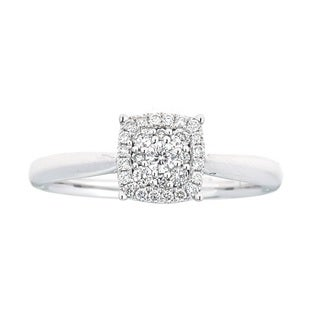 18K White Gold Diamond Ring by Anika and August