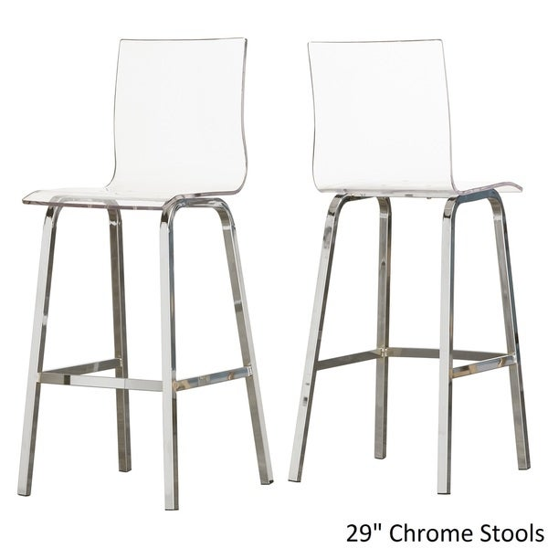 Miles Clear Acrylic Swivel Bar Stools with Back by INSPIRE Q (Set of 2) (As Is Item) - Free Shipping Today - Overstock.com - 91011303  sc 1 st  Overstock.com & Miles Clear Acrylic Swivel Bar Stools with Back by INSPIRE Q (Set ... islam-shia.org
