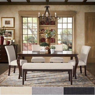 Pranzo Rectangular 72-inch Extending Dining Table and Dining Set with Cabriole Legs by TRIBECCA HOME