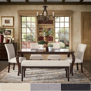 TRIBECCA HOME Pranzo Rectangular 72 Inch Extending Dining Table and Dining Set - Cabriole Legs