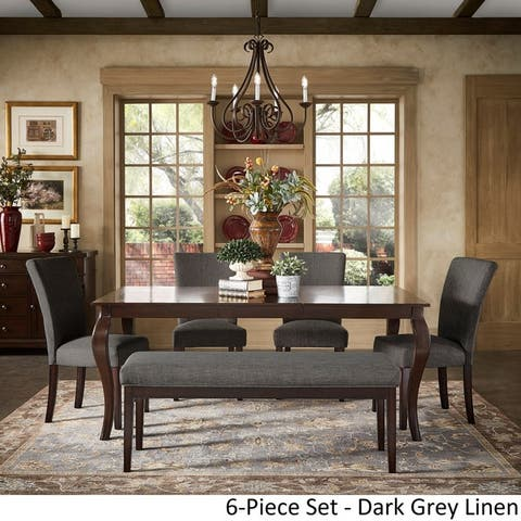 Pranzo Rectangular 72-inch Extending Dining Table and Set with Cabriole Legs by iNSPIRE Q Classic