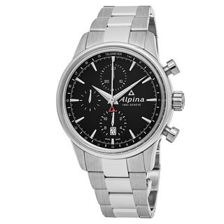 Alpina Men's AL-750B4E6B 'Alpiner' Black Dial Stainless Steel Chronograph Swiss Automatic Watch