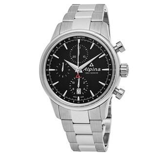 Alpina Men's AL-750B4E6B 'Alpiner' Black Dial Stainless Steel Chronograph Swiss Automatic Watch