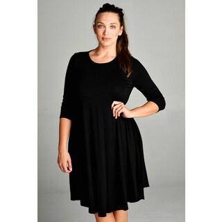 Spicy Mix Macie Rayon Jersey Mini Tunic Dress