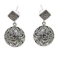 Handmade Sterling Silver 'Tropical Rain' Earrings (Indonesia)