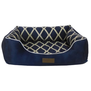 Microfiber Diamond-printed Plush Pet Bed