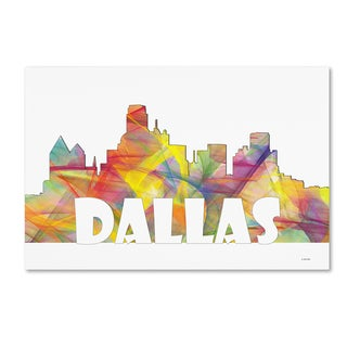 Marlene Watson 'Dallas Texas Skyline Mclr-2' Canvas Art