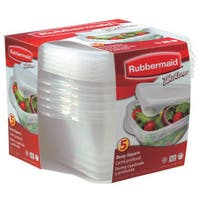 Rubbermaid 7F54RETCHIL 4 Piece Take Alongs Deep Square Containers