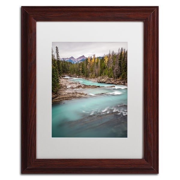 Pierre Leclerc 'Kicking Horse River' Matted Framed Art