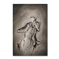Marc Allante 'The Cellist' Canvas Art