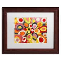 Amy Vangsgard 'Colorful Abstract Circles' Matted Framed Art