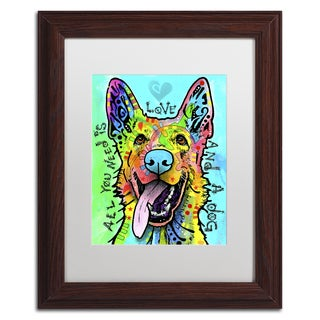 Dean Russo 'Love And A Dog' Matted Framed Art