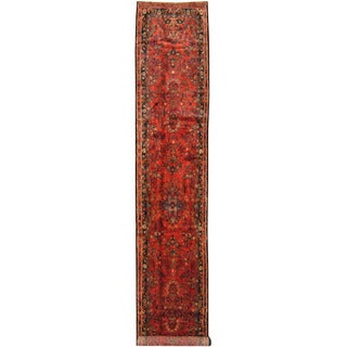 Herat Oriental Persian Hand-knotted Tribal Hamadan Wool Runner (2'9 x 15'3)