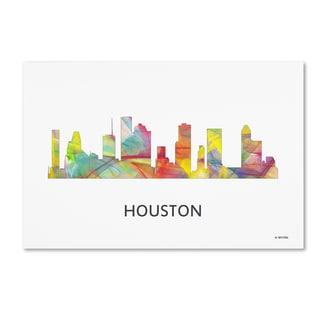 Marlene Watson 'Houston Texas Skyline WB-1' Canvas Art