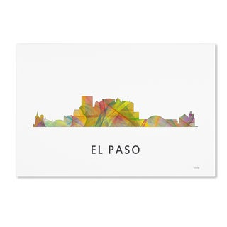 Marlene Watson 'El Paso Texas Skyline WB-1' Canvas Art