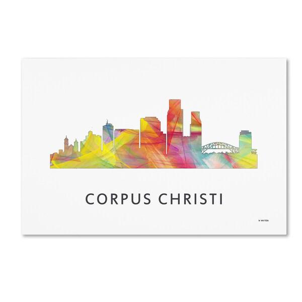 Marlene Watson 'Corpus Christi Texas WB-1' Canvas Art
