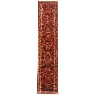 Herat Oriental Persian Hand-knotted Tribal Hamadan Wool Runner (2'10 x 16')