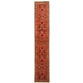 Herat Oriental Persian Hand-knotted Tribal Hamadan Wool Runner (2'8 x 14'7)