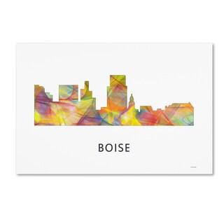 Marlene Watson 'Boise Idaho Skyline WB-1' Canvas Art