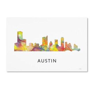 Marlene Watson 'Austin Texas Skyline WB-1' Canvas Art