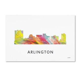 Marlene Watson 'Arlington Texas Skyline WB-1' Canvas Art