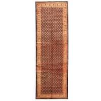 Herat Oriental Persian Hand-knotted Tribal Hamadan Wool Runner (3'9 x 11'4)