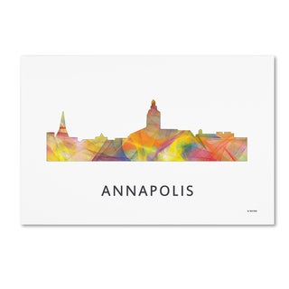 Marlene Watson 'Annapolis Maryland Skyline WB-1' Canvas Art