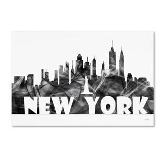 Marlene Watson 'New York New York Skyline BG-2' Canvas Art