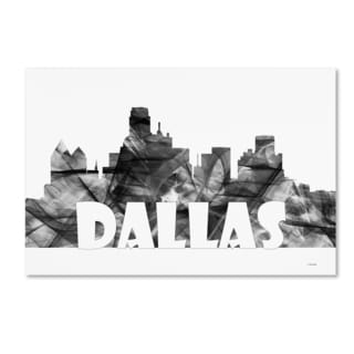 Marlene Watson 'Dallas Texas Skyline BG-2' Canvas Art