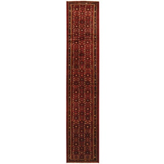 Herat Oriental Persian Hand-knotted Tribal Hamadan Wool Runner (2'2 x 13'2)