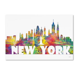 Marlene Watson 'New York New York Skyline Mclr-2' Canvas Art