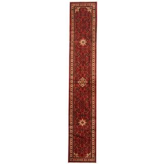 Herat Oriental Persian Hand-knotted Tribal Hamadan Wool Runner (2'2 x 12'8)