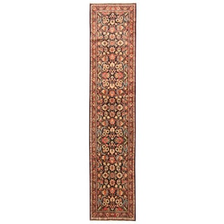 Herat Oriental Persian Hand-knotted Tribal Hamadan Wool Runner (2'5 x 11'6)