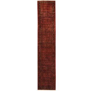 Herat Oriental Persian Hand-knotted Tribal Hamadan Wool Runner (2'6 x 12'6)