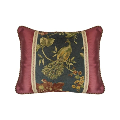Sherry Kline Peacock 20 x 25-inch Pieced Decorative Pillow (Set of 2)
