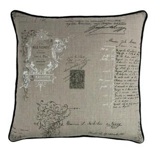 Sherry Kline Belle Linen 22-inch Decorative Throw Pillow
