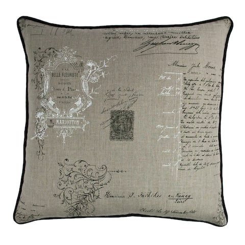 Sherry Kline Belle Linen 22-inch Decorative Throw Pillow