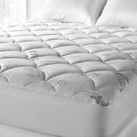 Soft Spa Luxe Cool Touch Tencel Blend Deep Pocket Mattress Pad Queen Size (As Is Item)