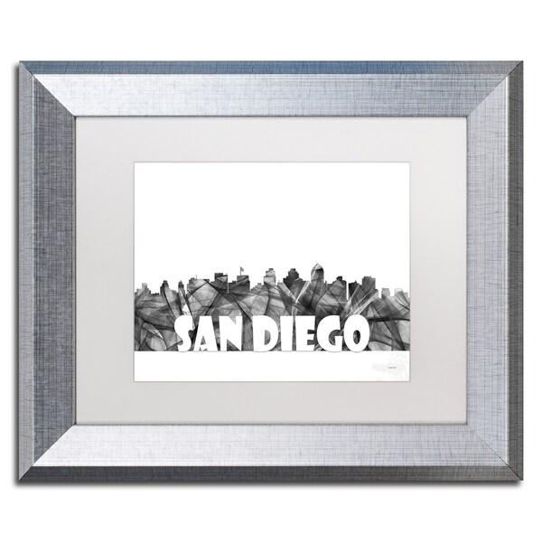 Shop Marlene Watson \'San Diego California Skyline BG-2\' Matted ...